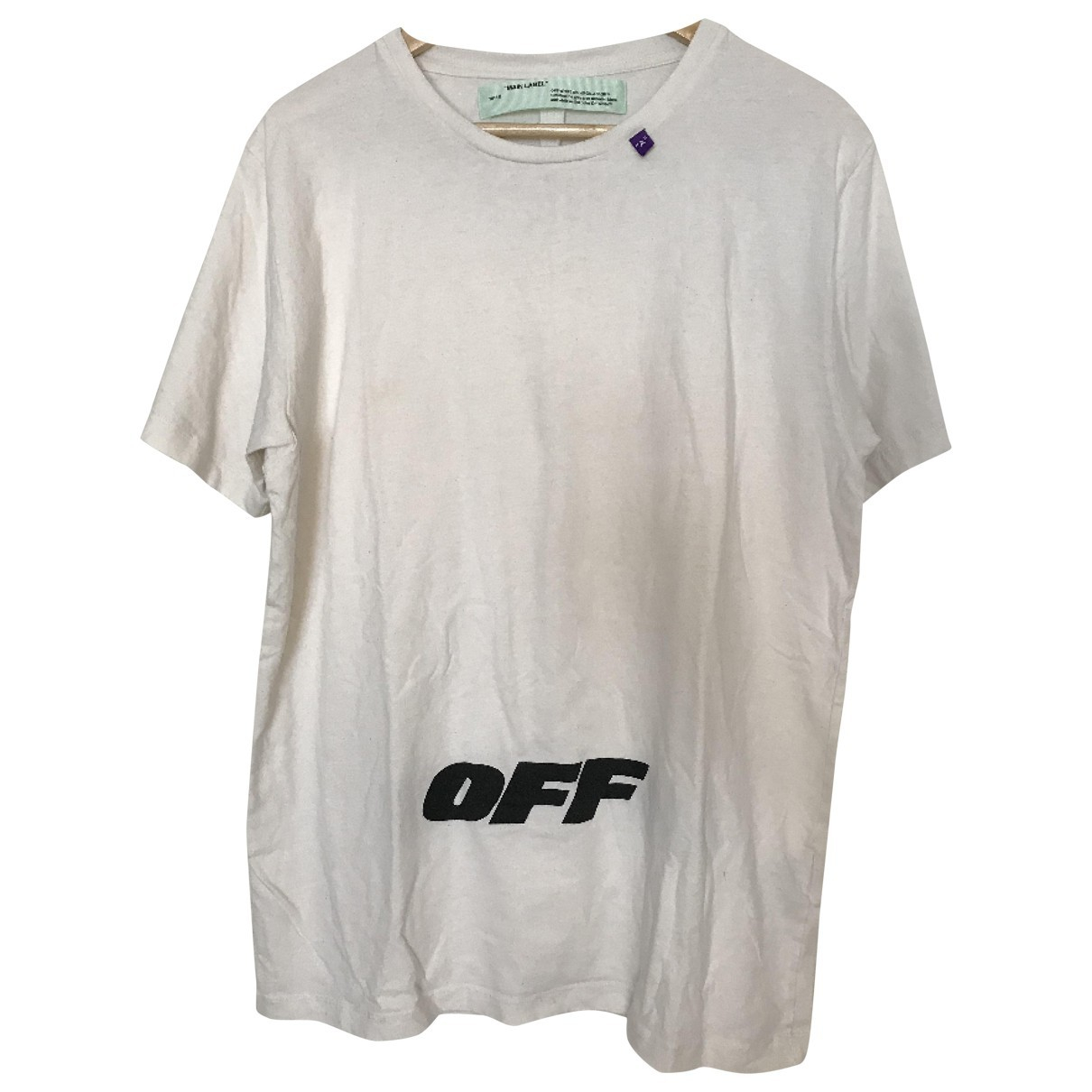 Off-white \N White Cotton T-shirts for Men L International
