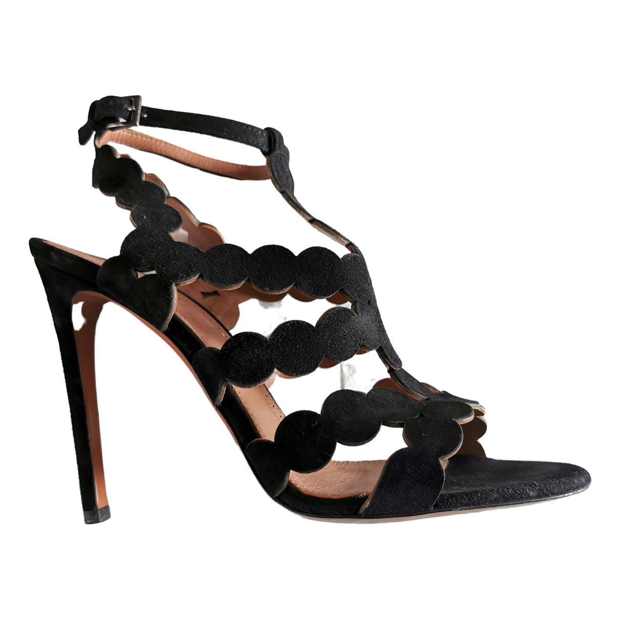 Alaïa \N Black Suede Sandals for Women 38.5 EU