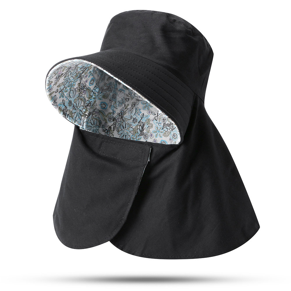 Woman Cover Face Sunscreen UV Protection Beach Hat Detachable Empty Top Foldable