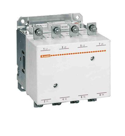 Lovato 4 Pole Contactor - 550 A, 220 → 240 V ac/dc Coil, 4NO, 345 kW