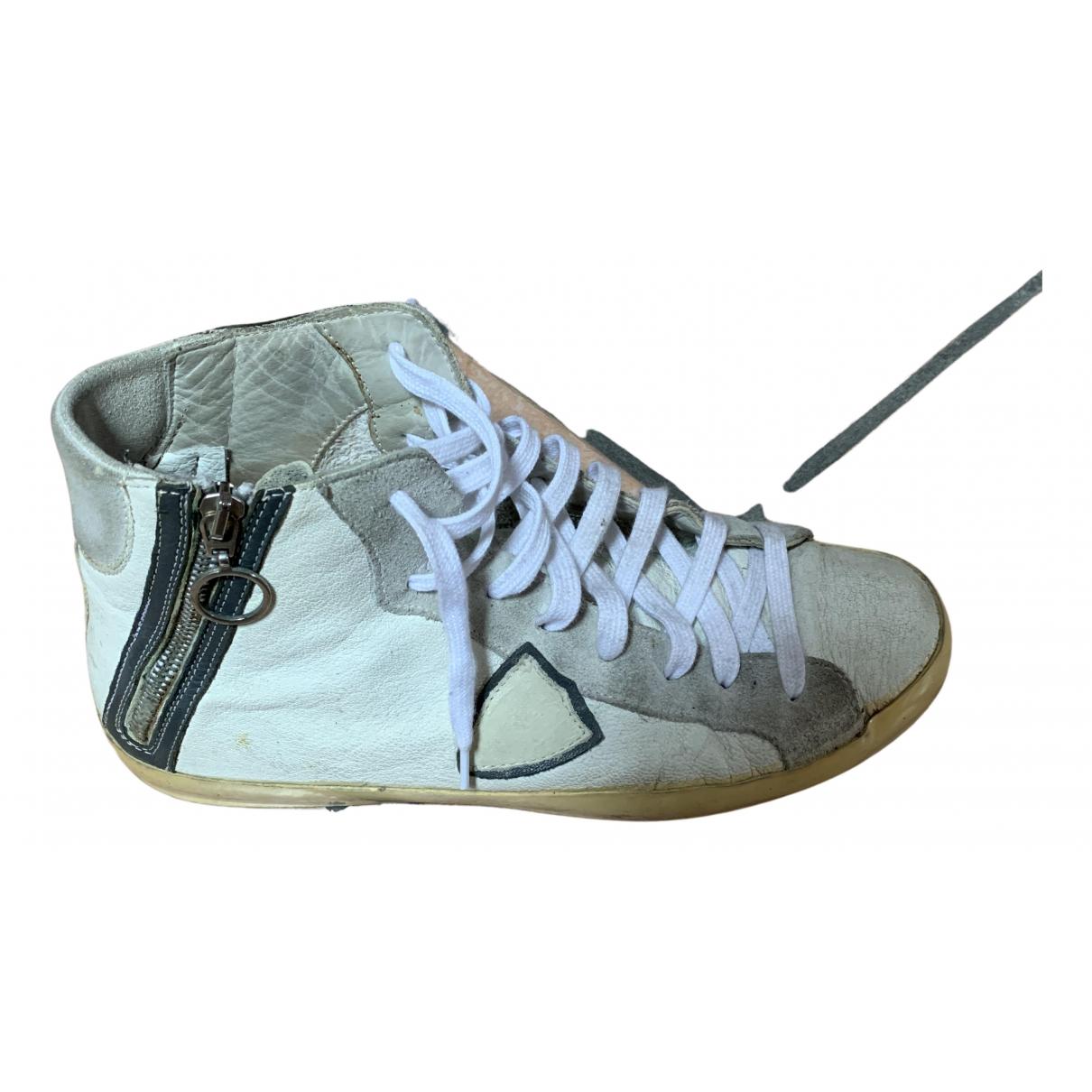Philippe Model \N Sneakers in  Weiss Leder