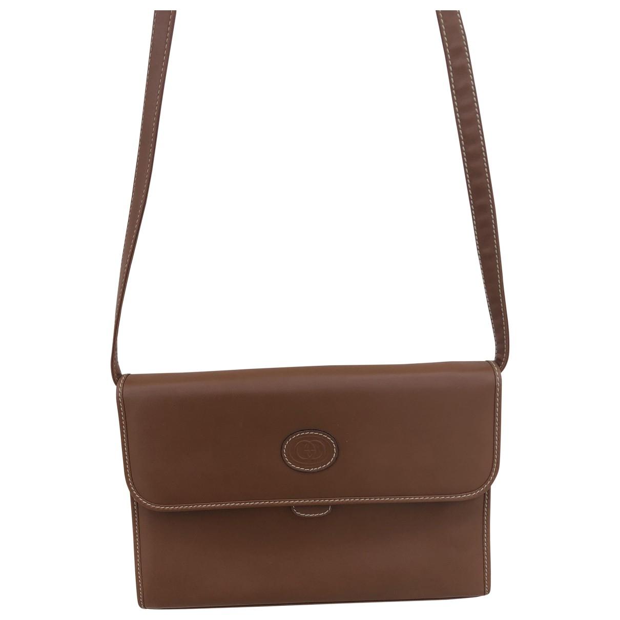 Gucci \N Handtasche in  Braun Leder