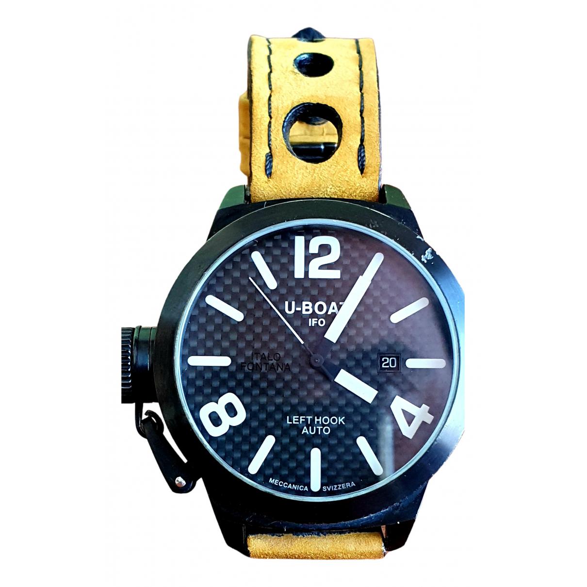 U-boat \N Uhr in  Schwarz Stahl