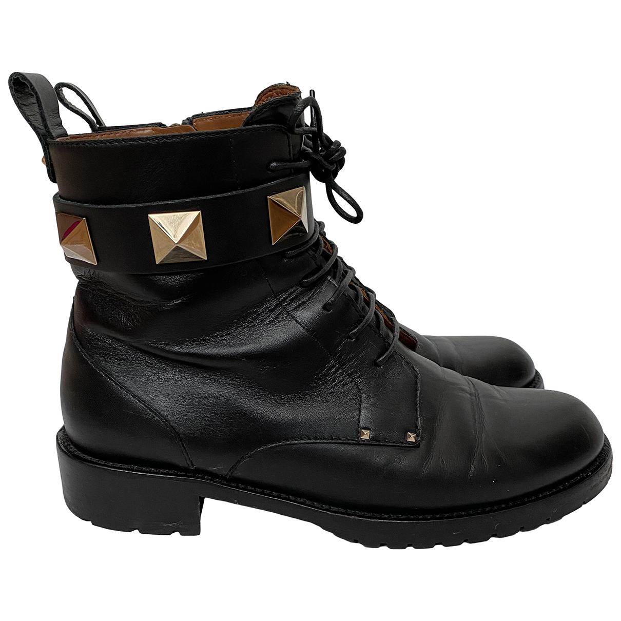 Valentino Garavani \N Stiefel in  Schwarz Leder