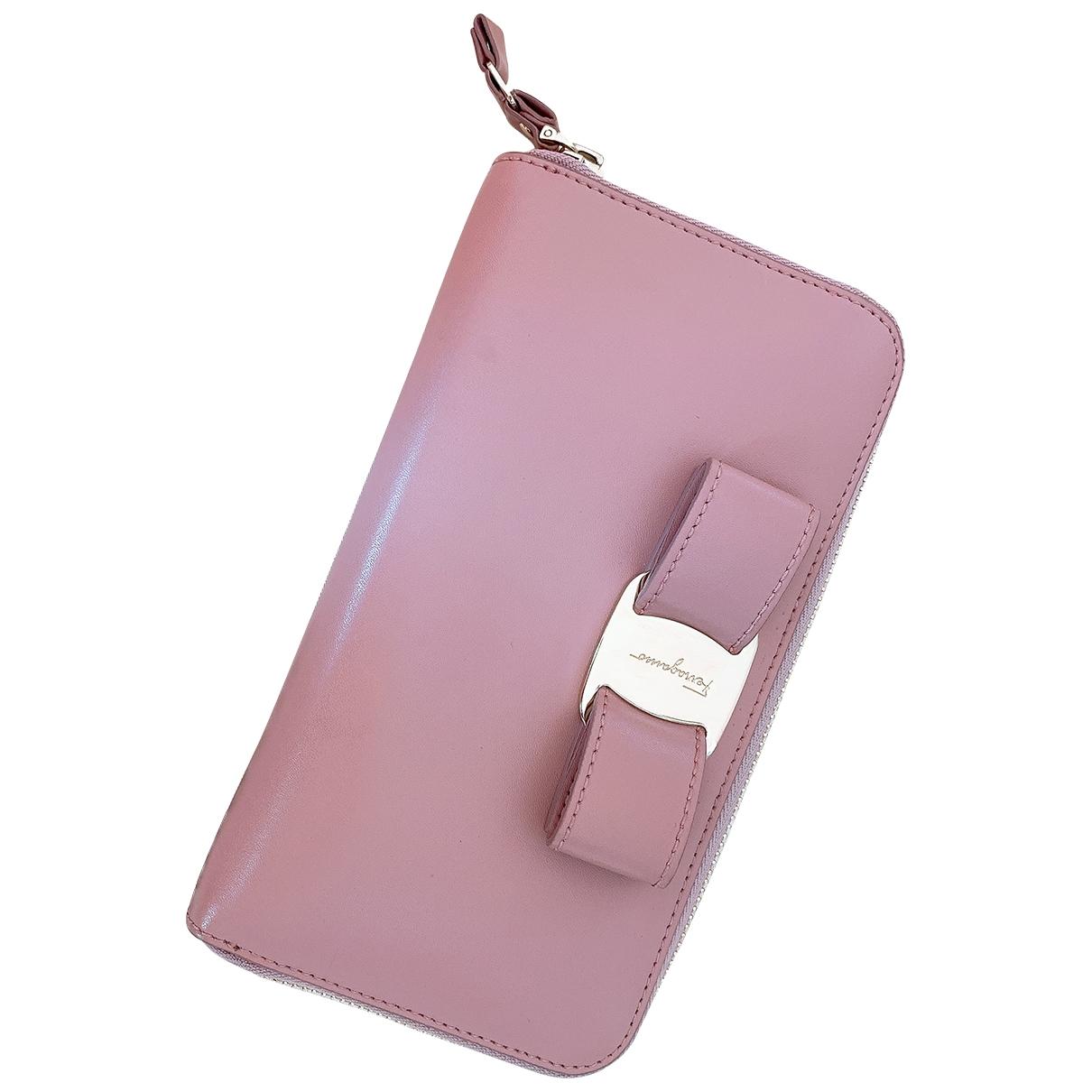 Salvatore Ferragamo - Petite maroquinerie   pour femme en cuir - rose