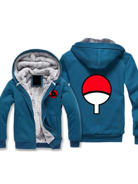Milanoo Naruto Uchiha Sharingan Uchiha Itachi Logo Halloween Cosplay Hoodie Anime Hoodie