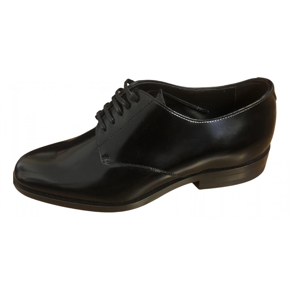Saint Laurent N Black Leather Flats for Women 36 EU