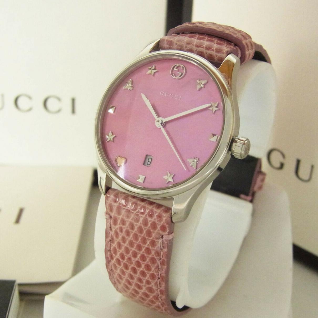 Gucci - Montre G-Timeless pour femme en argent - rose