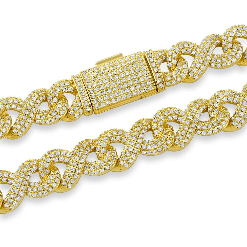 Infinity Link CZ Bling Bling Iced Out Chain