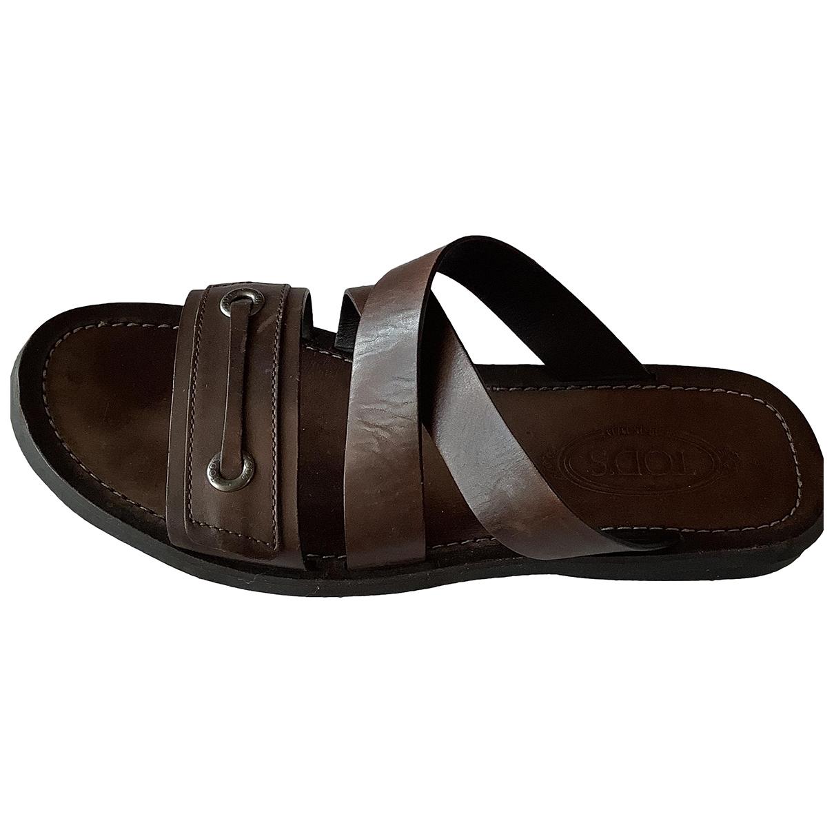 Sandalias de Cuero Tods