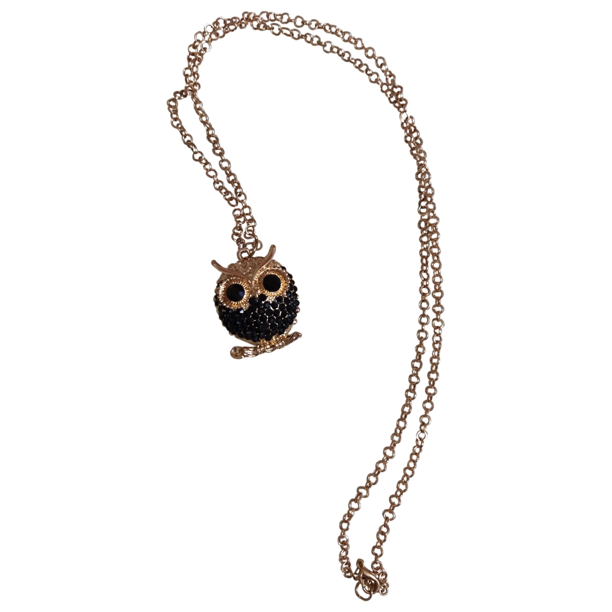 Non Signe / Unsigned Motifs Animaliers Kette in  Gold Metall