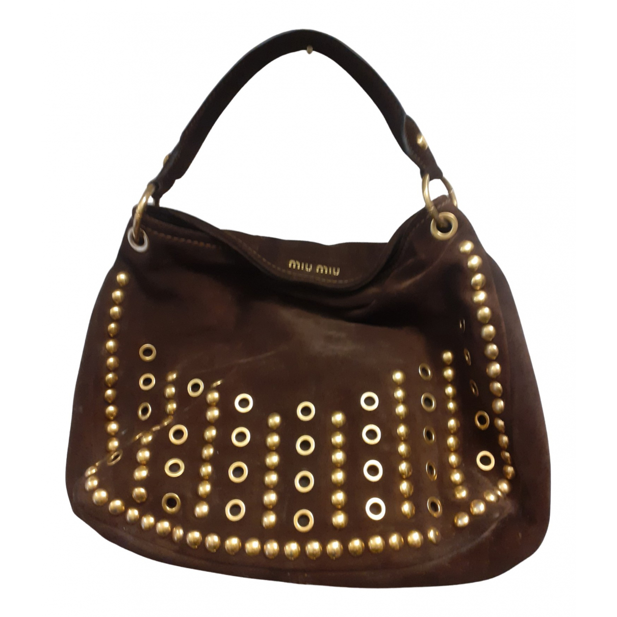 Miu Miu N Brown Suede handbag for Women N