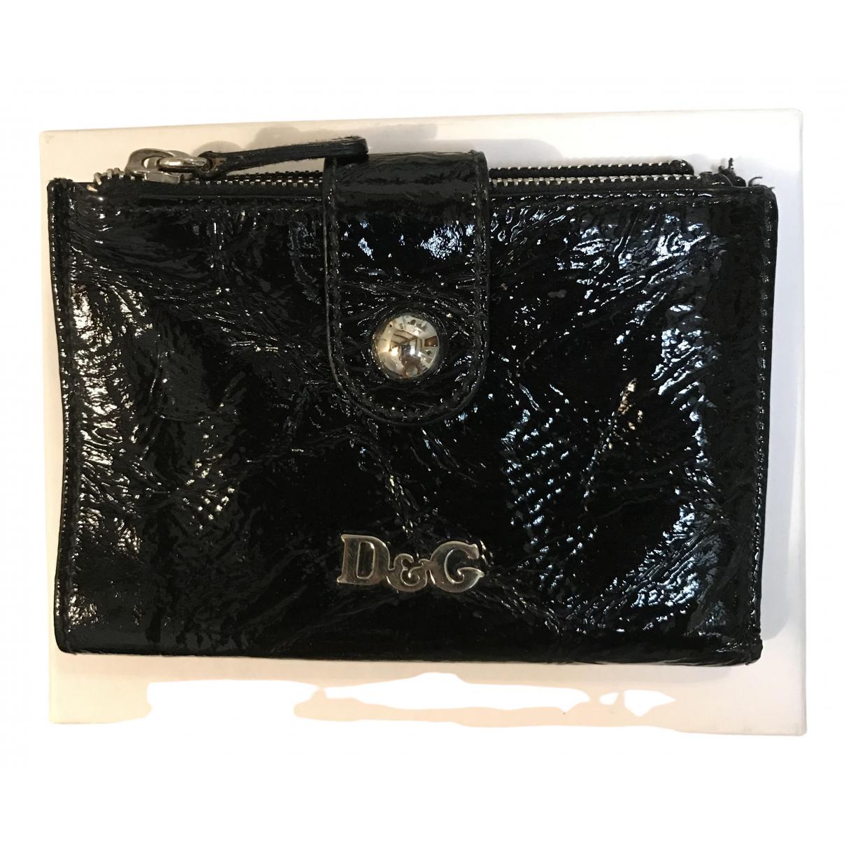 D&g \N Portemonnaie in  Schwarz Lackleder