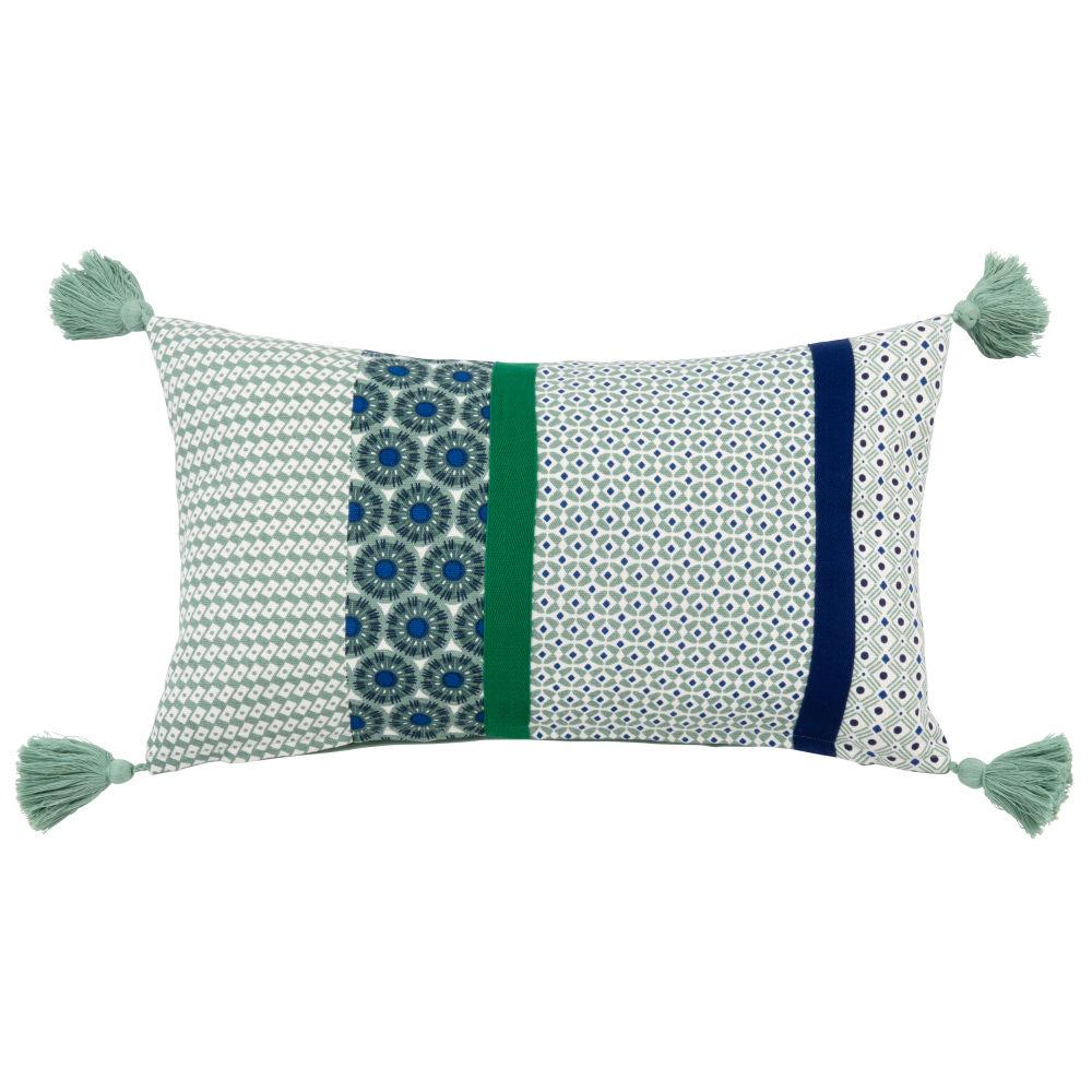 Kissenbezug aus Baumwolle mit bunten Motiven 30x50