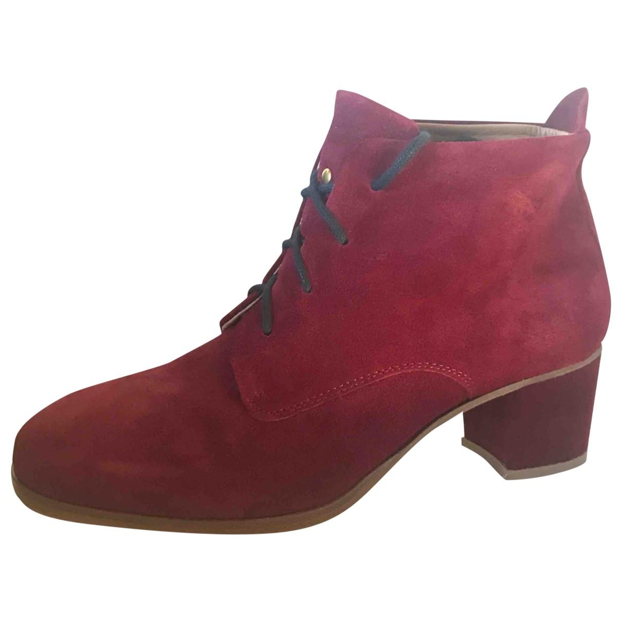 Lf Shoes - Boots   pour femme en suede - bordeaux