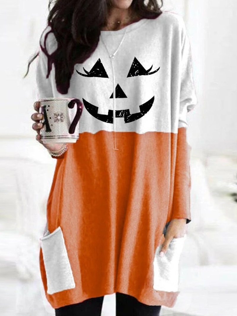 Ericdress Cartoon Long Sleeve Mid-Length Fall Casual T-Shirt