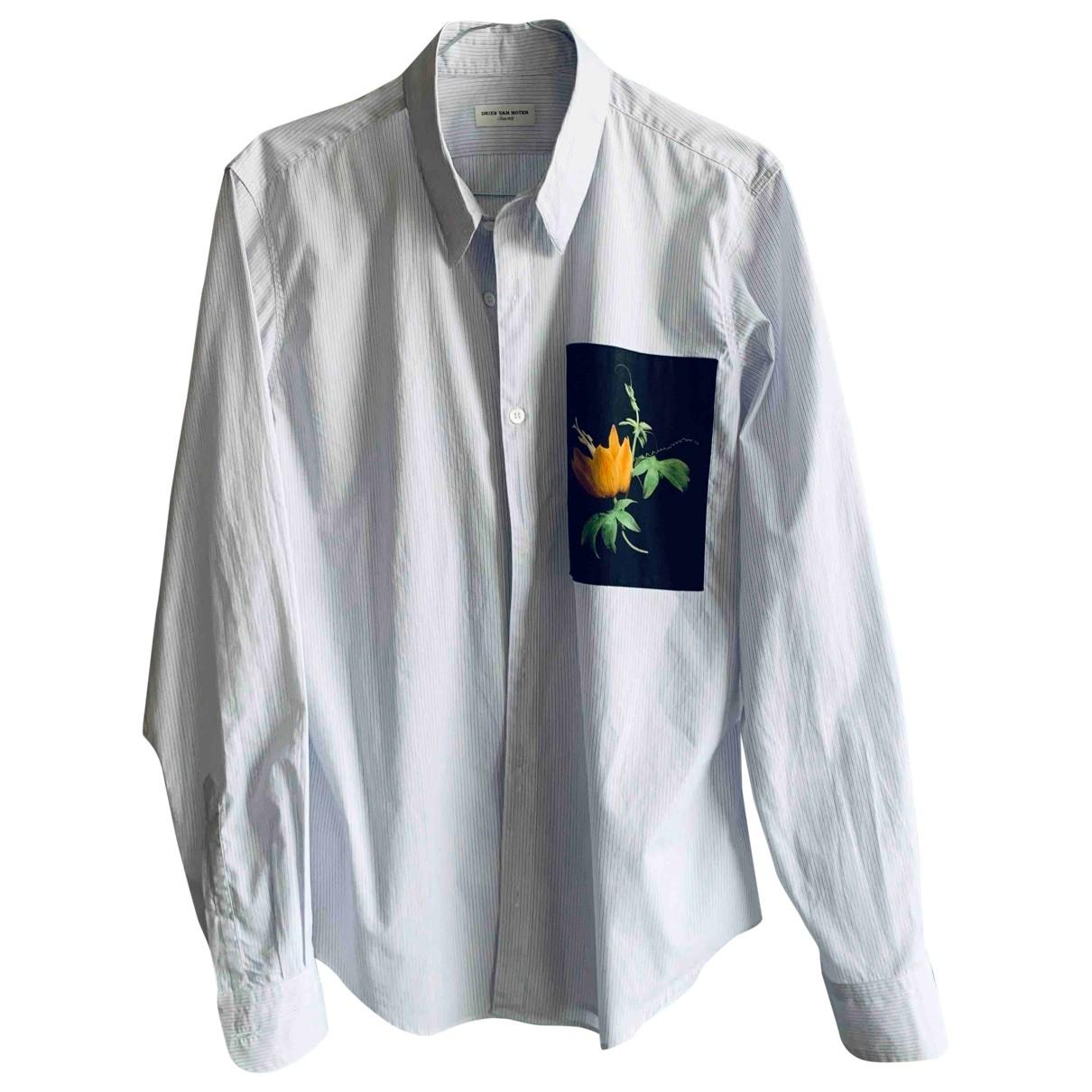 Dries Van Noten \N White Cotton Shirts for Men M International