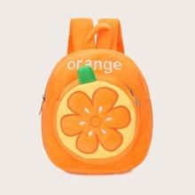 Mochila de niñas con diseño de naranja