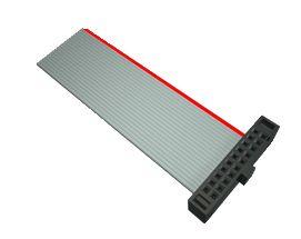 Samtec FFSD Ribbon Cable Assembly, IDC Socket to IDC Socket, 76.2mm