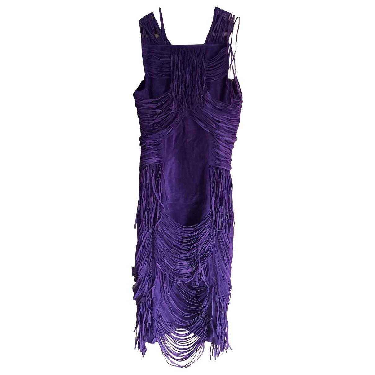 Gucci \N Purple Suede dress for Women 40 IT