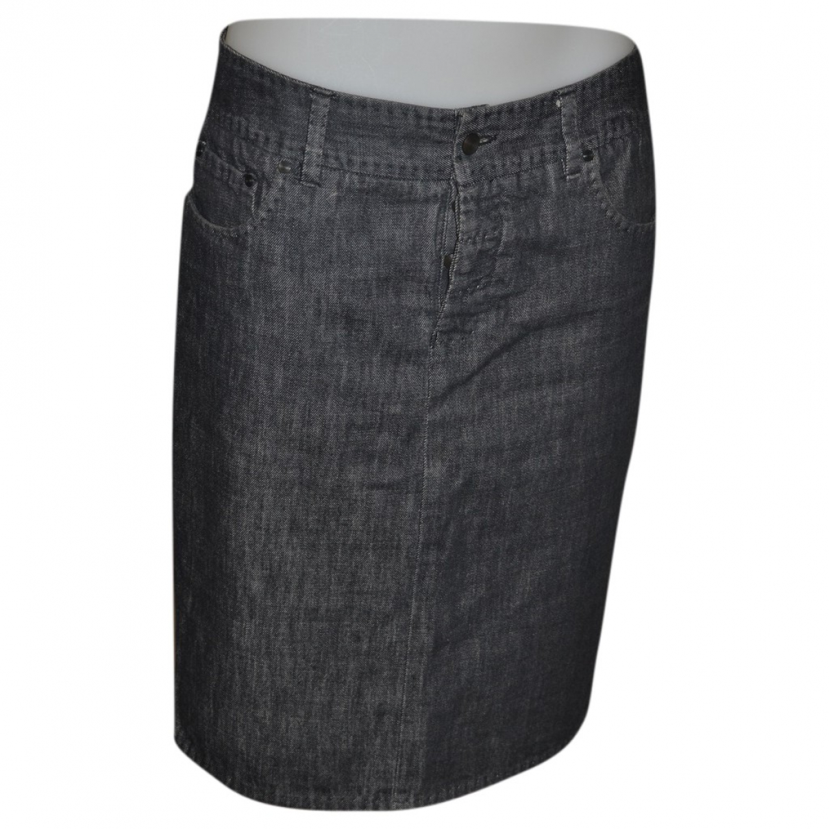 Gucci \N Anthracite Denim - Jeans skirt for Women 42 IT