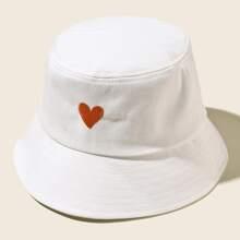 Heart Embroidery Bucket Hat