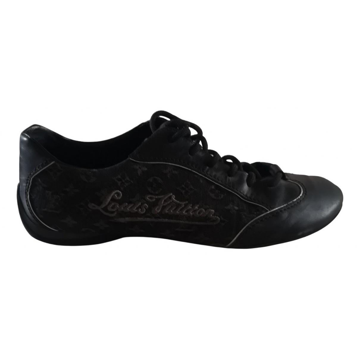 Louis Vuitton - Baskets   pour femme en toile - noir