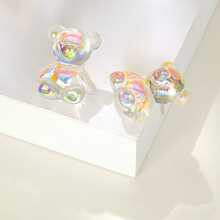 Holographic Design Stud Earrings