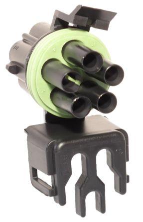 Delphi , Weather-Pack Automotive Connector Plug 1 Row 5 Way, Crimp Termination, Black (2)