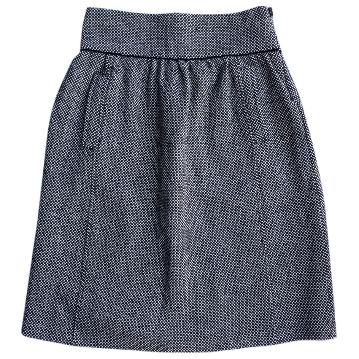 Falda midi de Lana D&g