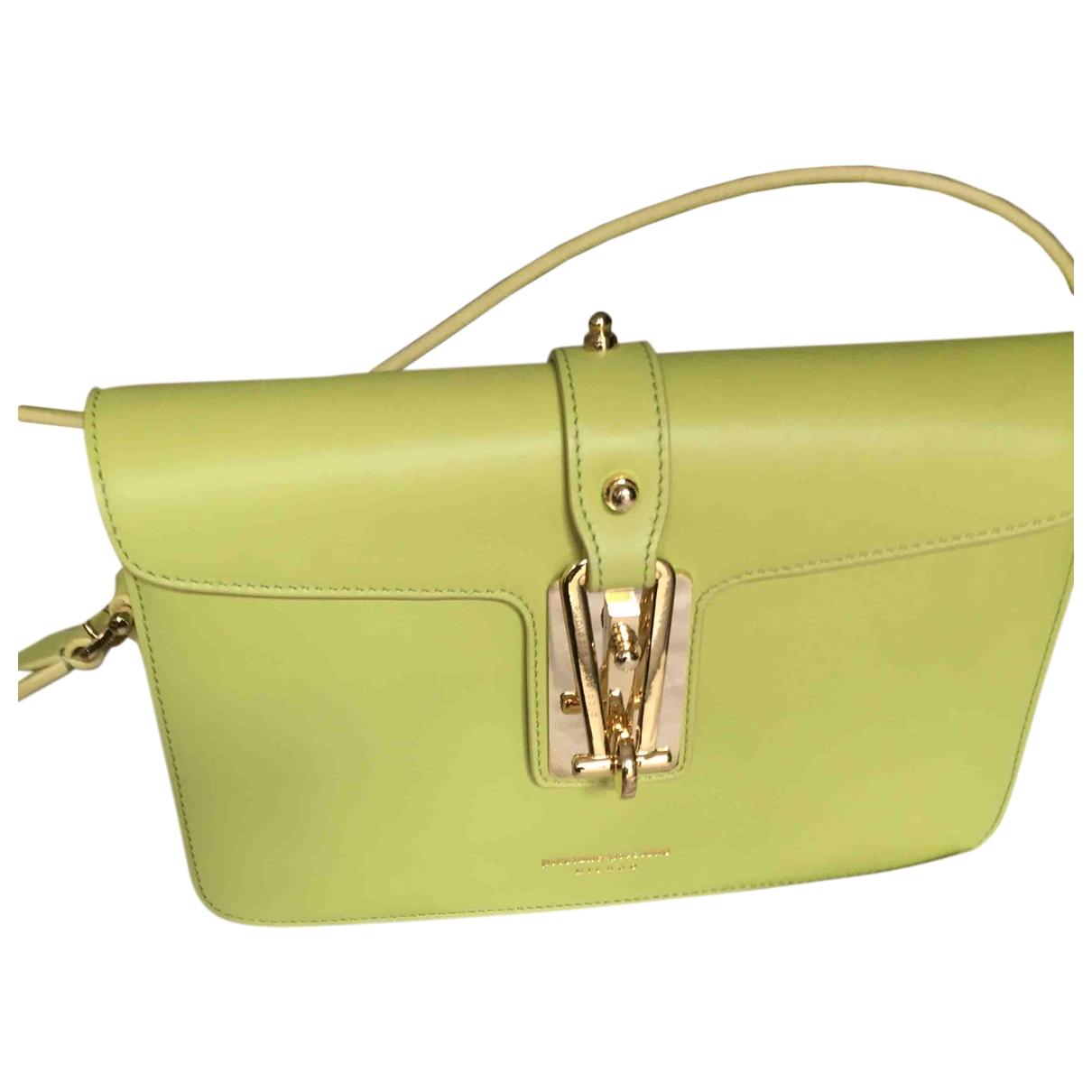 Piccione.piccione \N Handtasche in  Gelb Leder