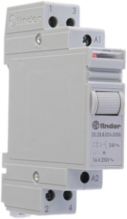 Finder SPDT DIN Rail Latching Relay - 16 A, 24V ac
