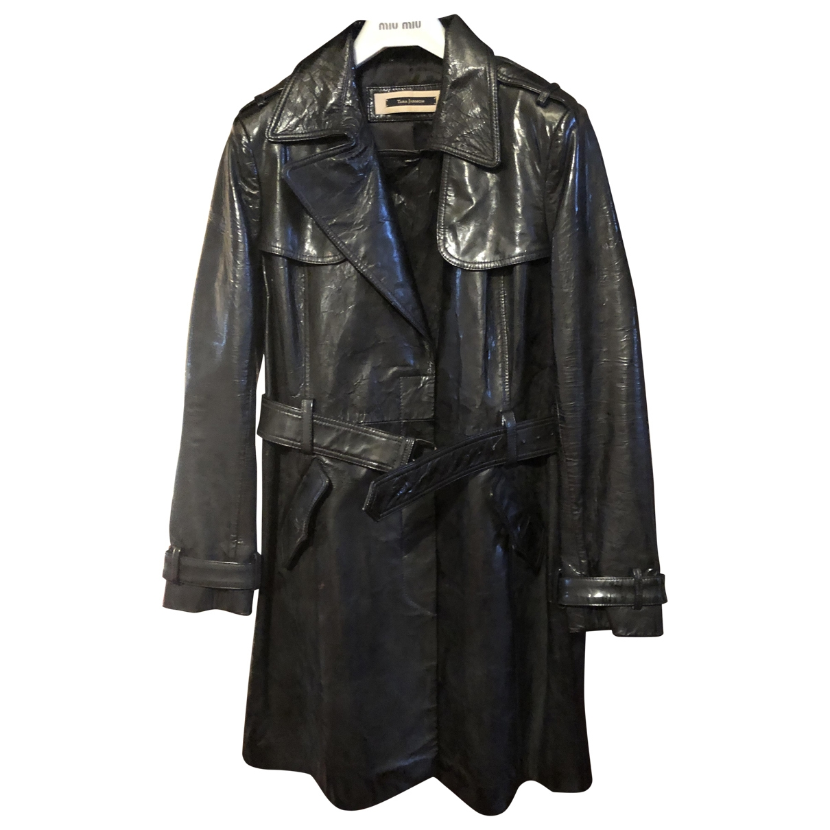 Tara Jarmon \N Black Leather Leather jacket for Women 40 FR