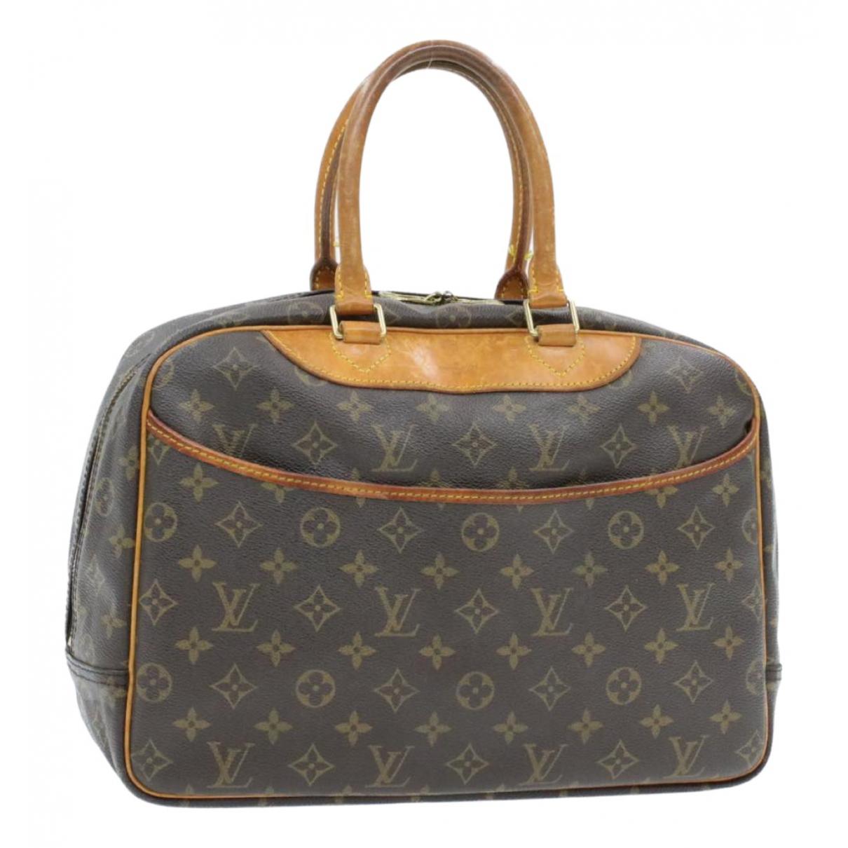 Louis Vuitton Deauville Brown Cloth Travel bag for Women N