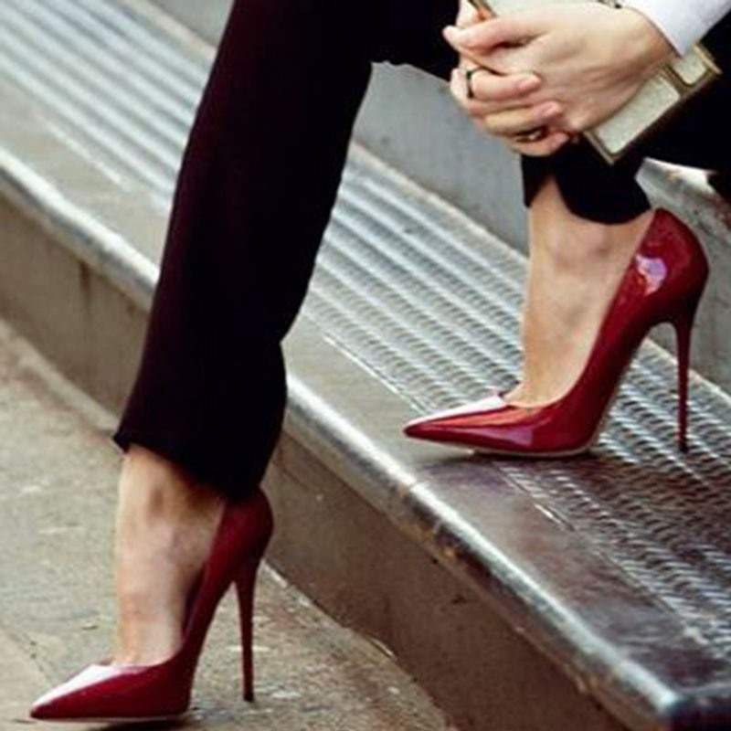 Ericdress Sexy Red Pointed Toe Ultra-High Heel Pumps