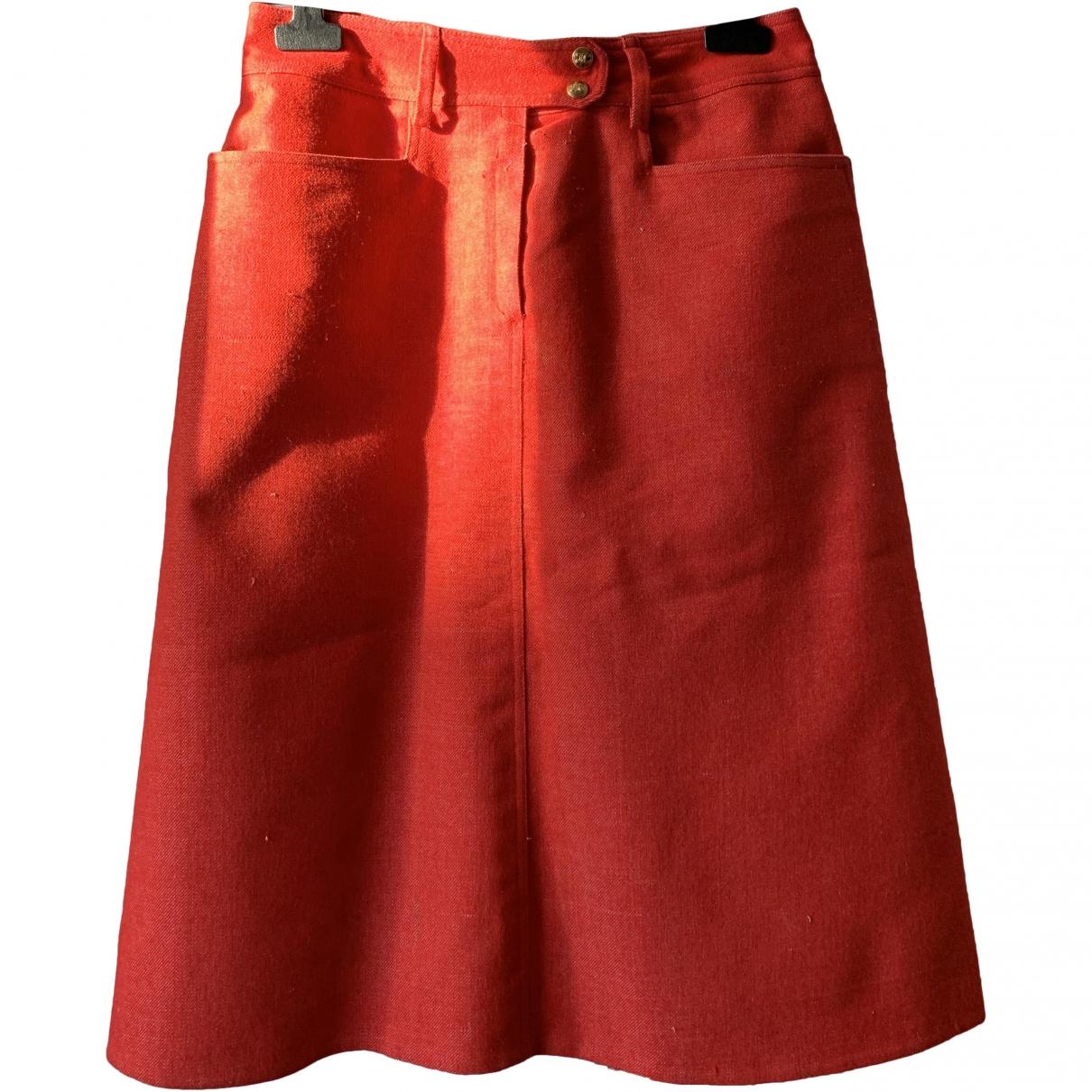 Celine \N Red Denim - Jeans skirt for Women 40 FR