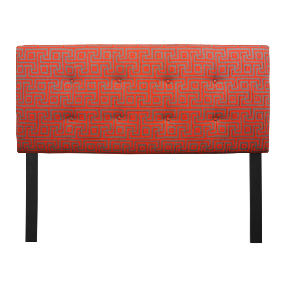 8-button Tufted Atomic Red Headboard (Red - Queen)
