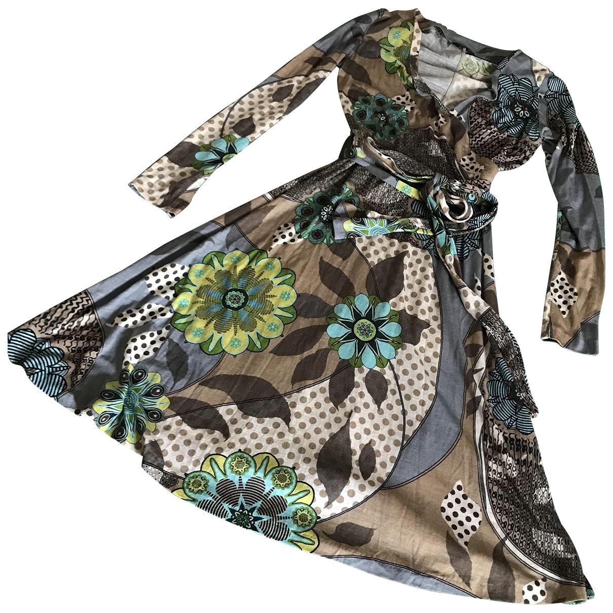 Mauro Grifoni \N Brown Wool dress for Women 44 IT
