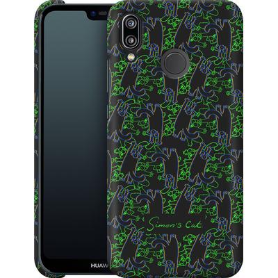 Huawei P20 Lite Smartphone Huelle - Simon´s Cat Black and Green Pattern von Simons Cat