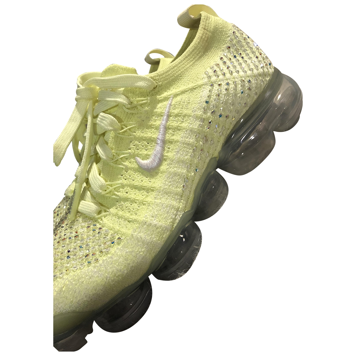 Nike Air VaporMax Yellow Cloth Trainers for Women 38 EU