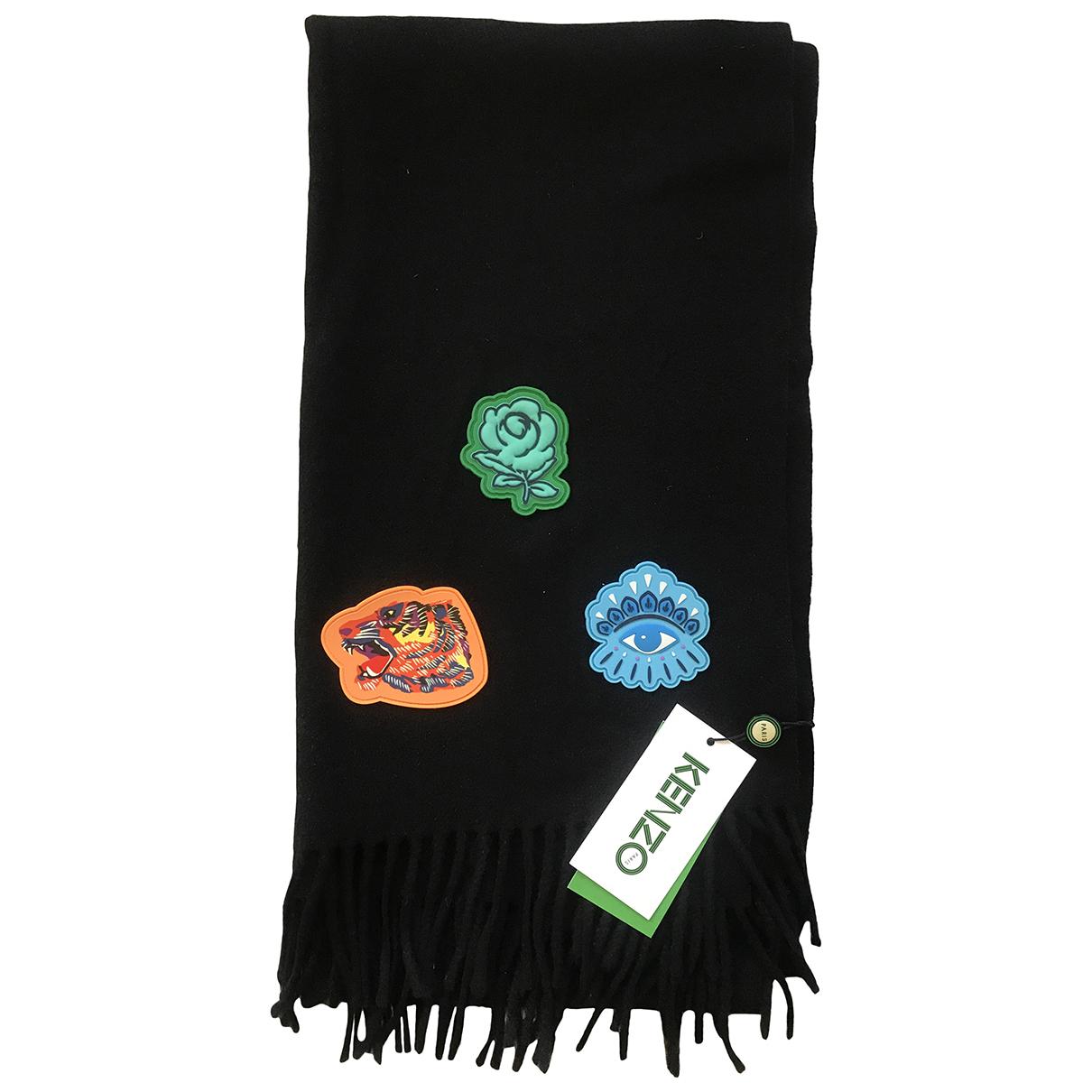 Kenzo - Foulard   pour femme en laine - noir