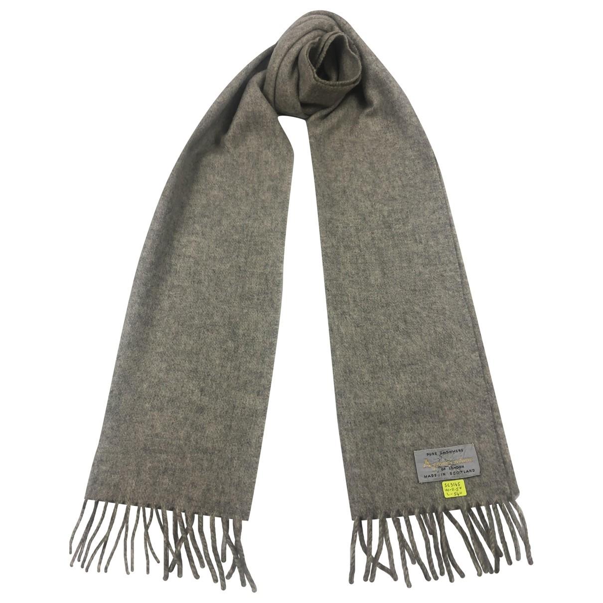 Aquascutum \N Grey Cashmere scarf & pocket squares for Men \N