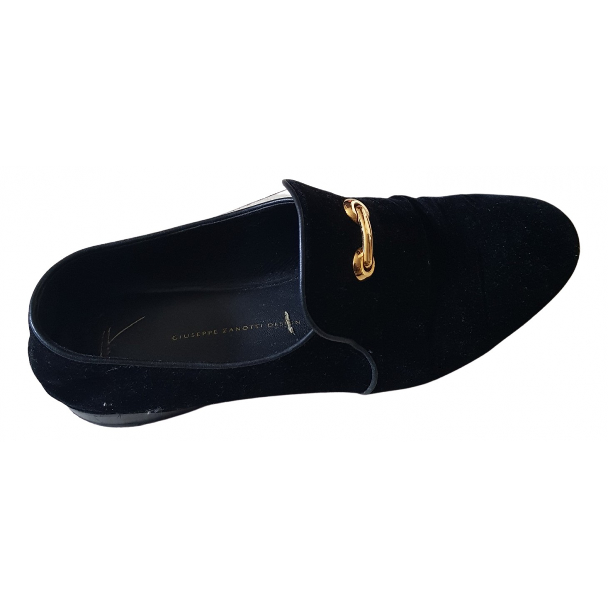 Giuseppe Zanotti \N Black Velvet Flats for Men 45 EU