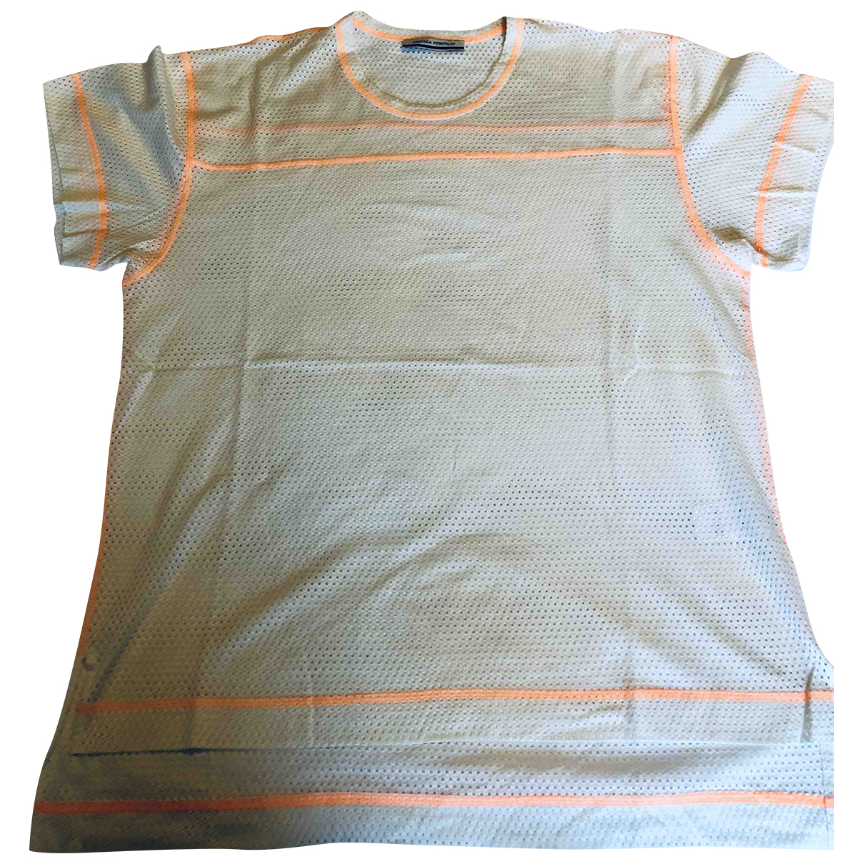 Andrea Pompilio \N Beige Cotton T-shirts for Men XL International