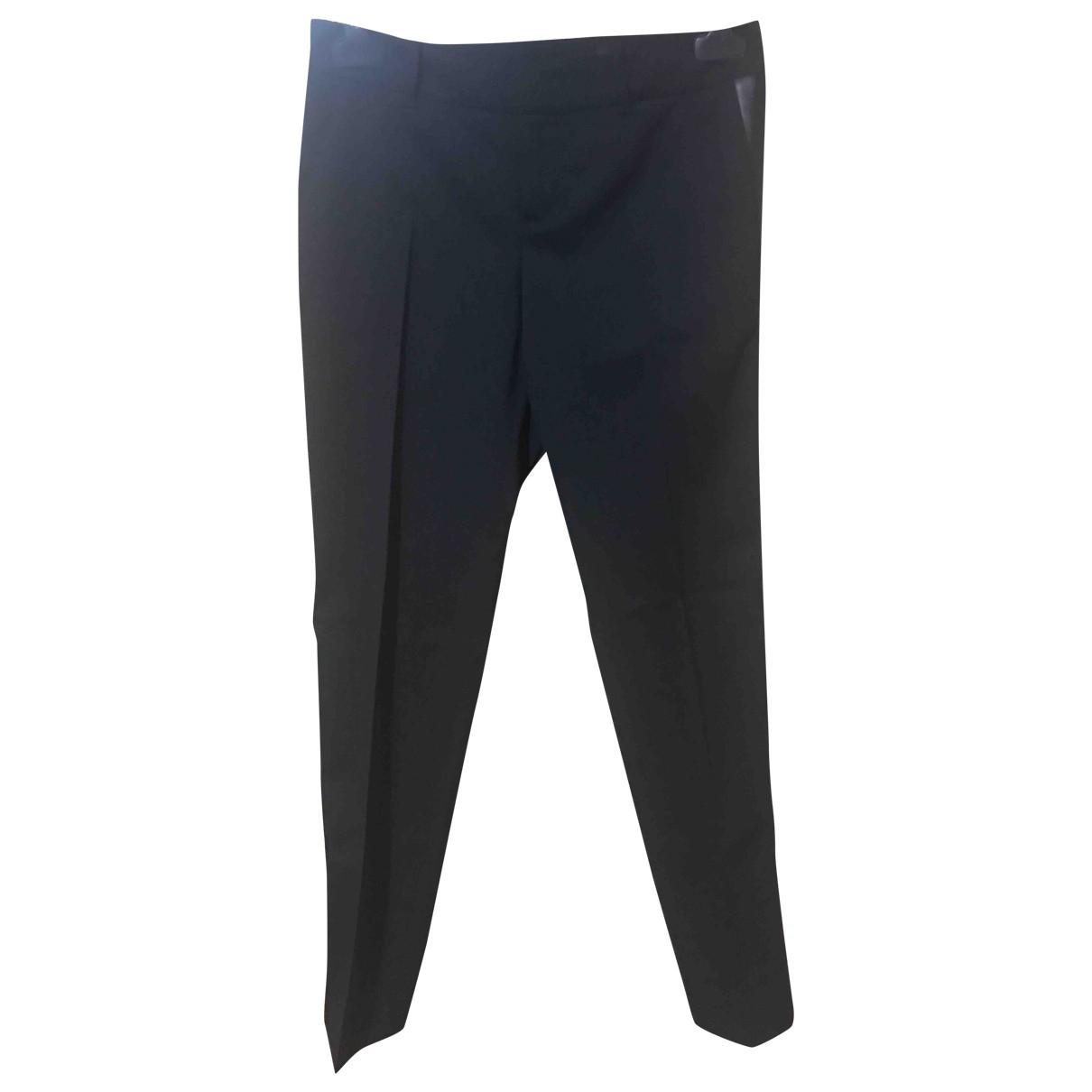 Gucci \N Black Wool Trousers for Women 36 FR
