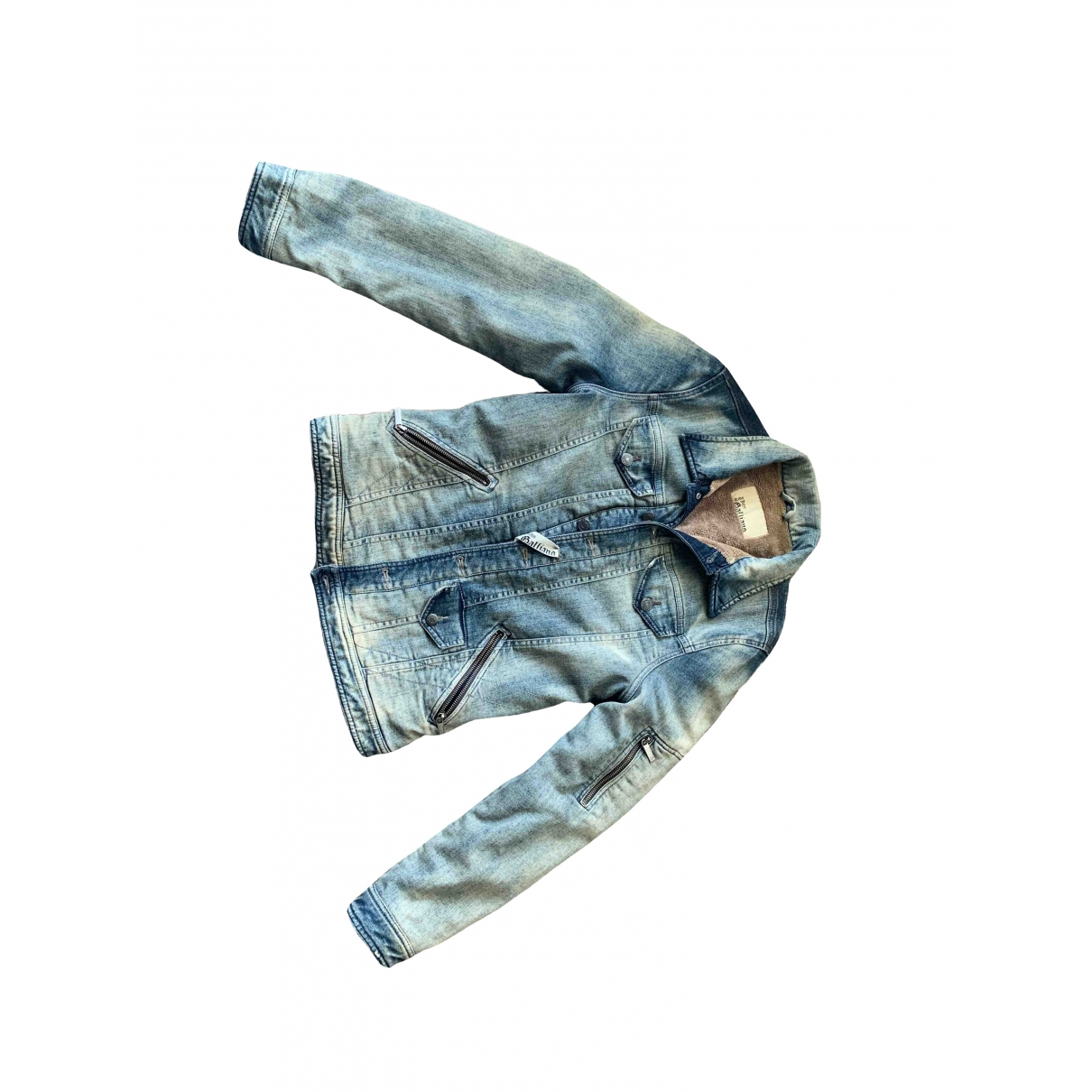 John Galliano \N Jacke in  Blau Denim - Jeans