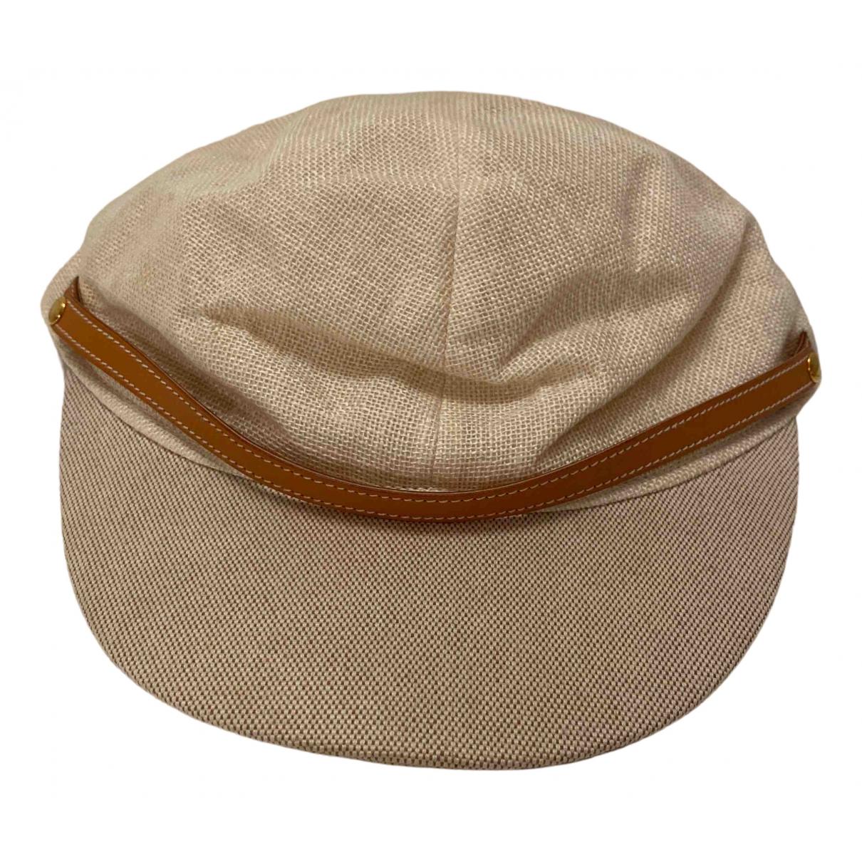 Hermes - Chapeau   pour femme en toile - beige