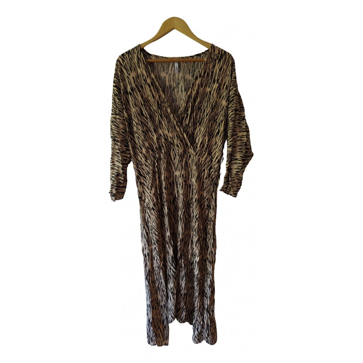Mango - Robe   pour femme - camel