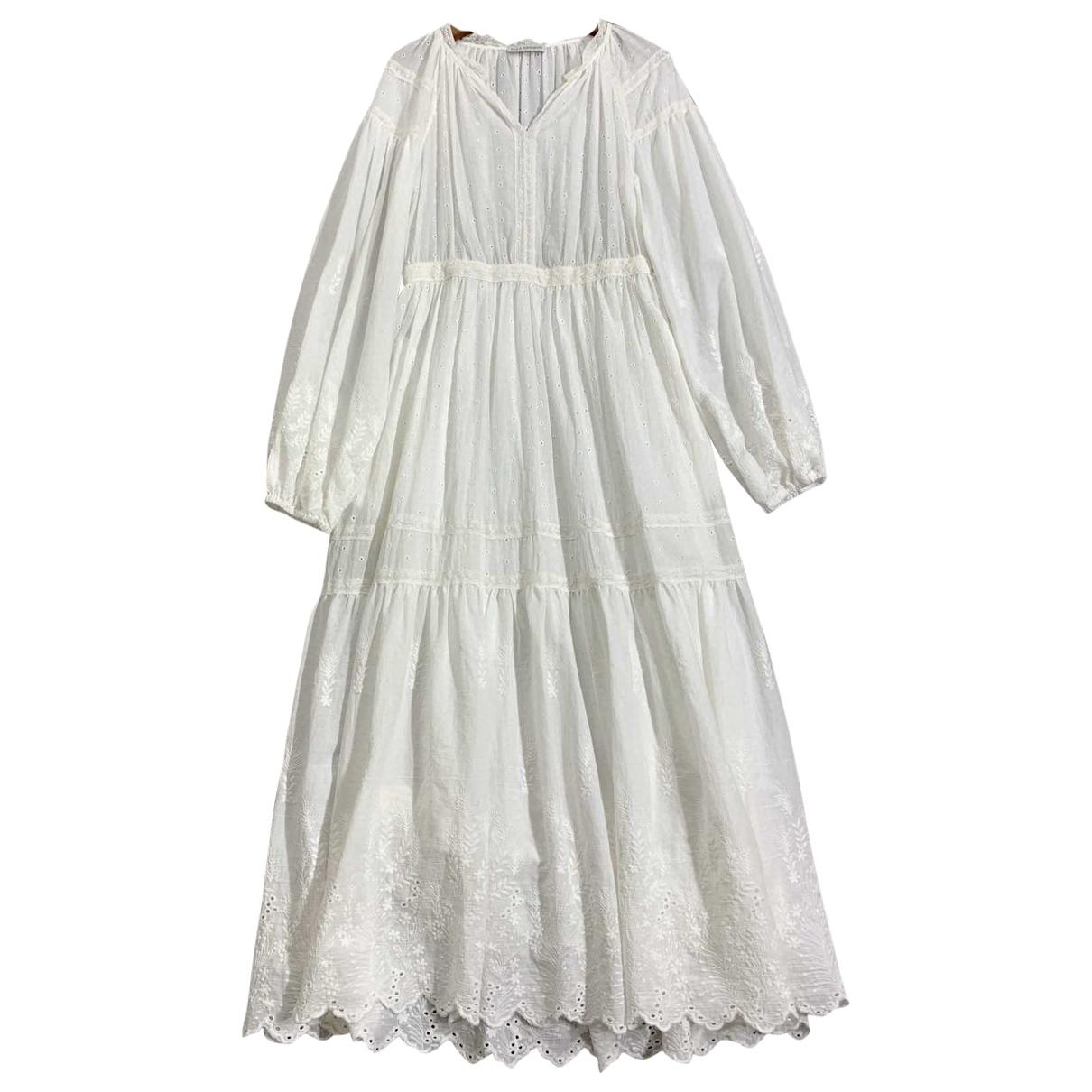Ulla Johnson \N Kleid in  Weiss Baumwolle