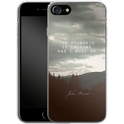 Apple iPhone 8 Silikon Handyhuelle - The Mountain Is Calling von Leah Flores